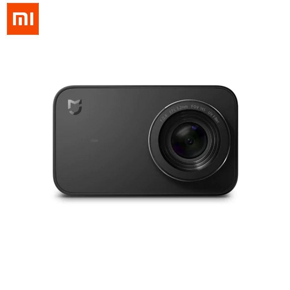 Versión en inglés Xiaomi Mijia Mini cámara 4 K 30fps para Sony IMX317 2,4 pulgadas pantalla táctil 7 Lente de Cristal de seis -eje EIS 145 grados
