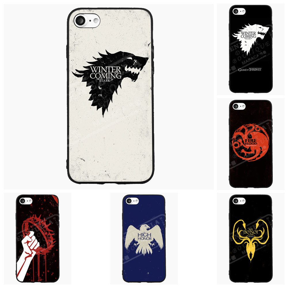 Game of Wolf Thrones Phone Case For iPhone 5 6 7 s Plus