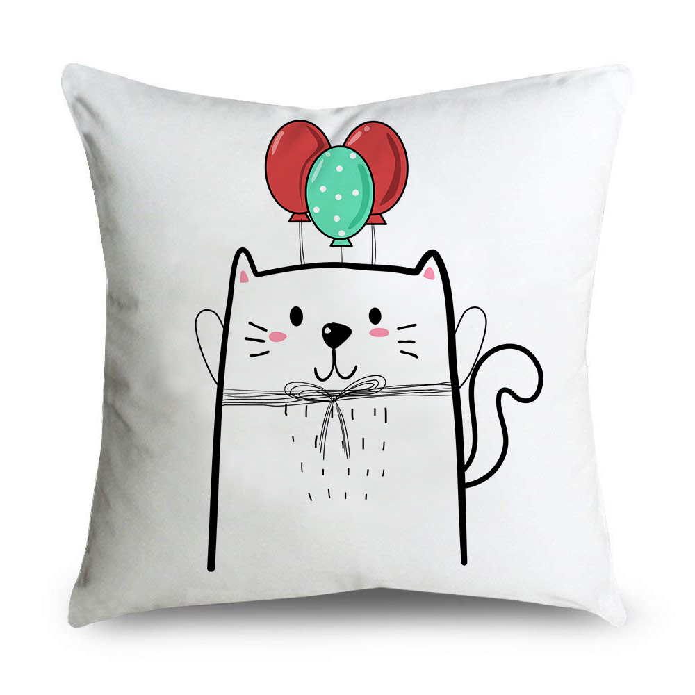 Cute Christmas Cat Throw Pillow Cases