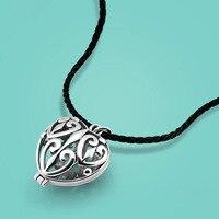 Của phụ nữ Thái mặt dây chuyền bạc vòng cổ vintage tim pendant thiết kế rope chain 50 cm Xương Đòn vòng cổ đồ trang sức phổ biến tốt nhất hiện nay