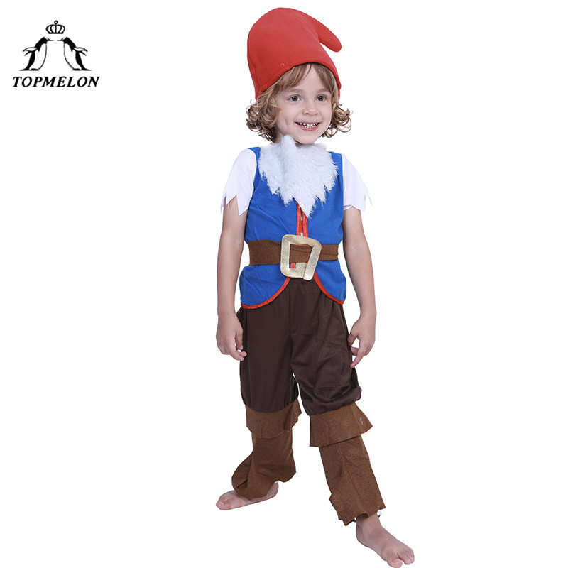 TOPMELON Spirit Halloween Kids Boys Girls Full Set Holiday Costume Elf Peter Pan Tops Pants Hat Fairy Tail Cosplay
