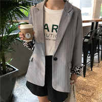 Alien Kitty Vintage Notched Casual Fresh Female High Quality New Office Lady Long Sleeve Single Button Solid Blazers 2 Colors