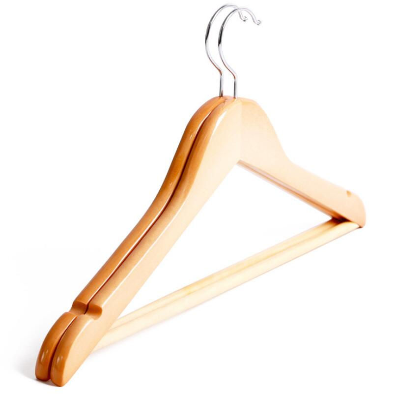 Clothes Storage Supplies Wooden Hanger Coat Hanger For Dry And Wet Dual Cloth Purpose Non-slip Rack LX2386