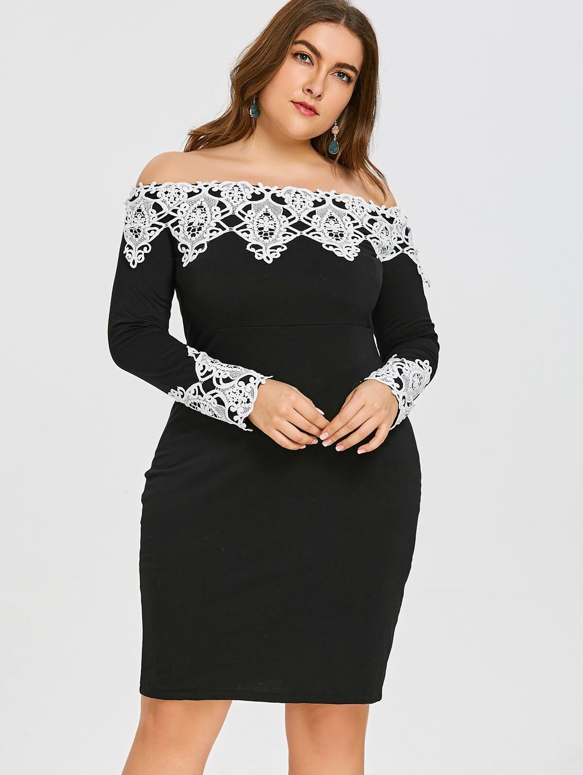Gamiss Womens Elegant Plus Size Halter Neck Lace Capelet Dress