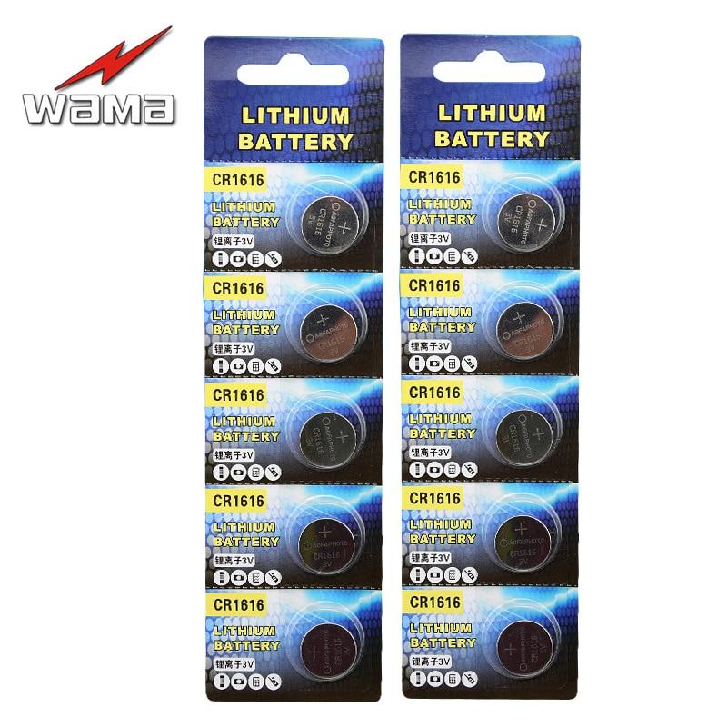 Batterien Unterhaltungselektronik Panasonic 10 Pc Original Cr1616 3 V Taste Cell-münze Batterien Für Uhr Dl1616 Br1616 Ecr1616 5021lc L11 L28 Kcr1616 Gute QualitäT