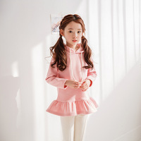 Foreign Trade 2018 Fall Children's Long Sleeved Cotton Hoodies Little Girls Cute Ruffles Hooded Sweaters Baby Kids Clothes X33