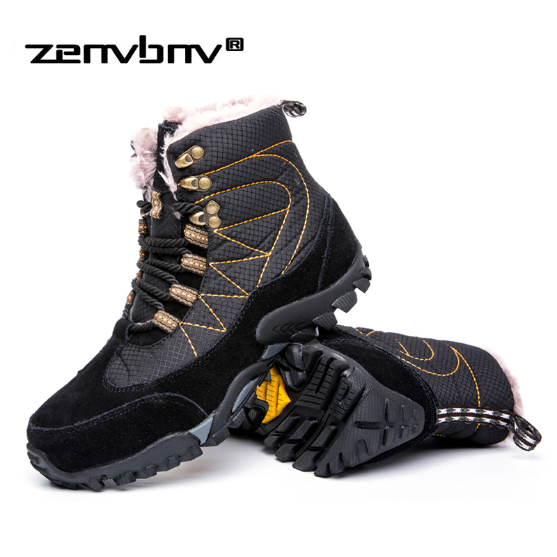 Winter/Autumn Super Warm Men Winter Boots for Men Warm Boots Shoes With Fur New Men's Ankle Snow Boots Botas Masculina bota mvvt super warm winter men boots snow boots with fur keep warm platform men winter snow shoes waterproof ankle boots