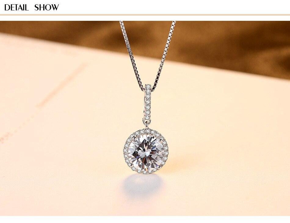 Zircon S925 bijoux en argent Sterling classique pendentif collier accessoires en argent BLT04Zircon S925 bijoux en argent Sterling classique pendentif collier accessoires en argent BLT04