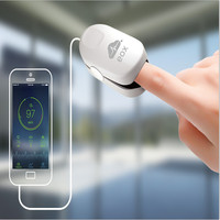 2016 New No battery finger pulse oximeter mobile vital signs monitor SPO2 health care support Iphone 4S Andriod 4.0 and above
