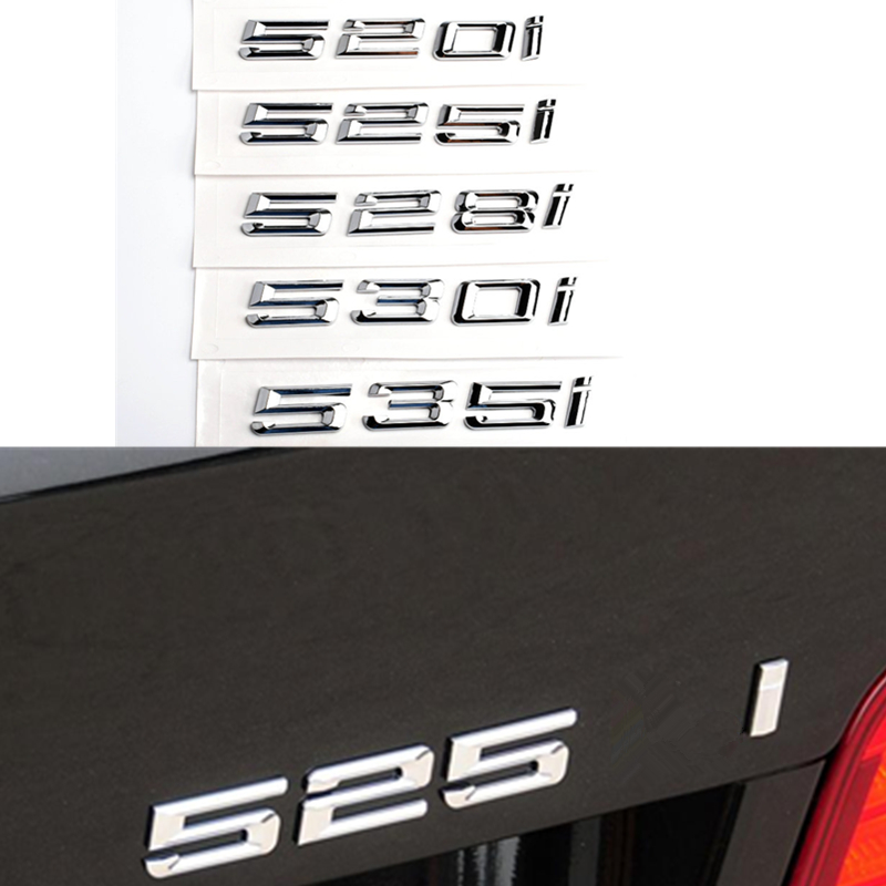 540i REAR TRUNK LETTER EMBLEM BADGE for ALL BMW 5 SERIES E34 E39 CAR 3 COLORS