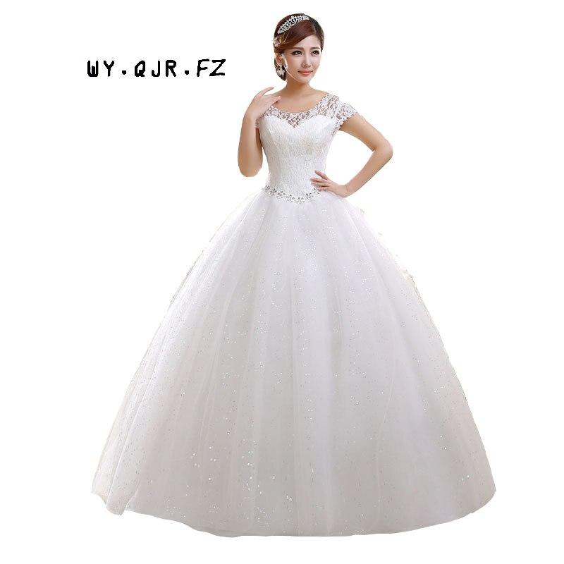 QQC HS587 Factory direct supply of new Bride wedding dress 2019 bride lace strap slim code