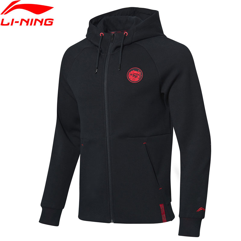 Li-Ning Men The Trend Hoodie 66% Cotton 34% Polyester Regular Fit Li Ning LiNing Sports Hooded Coats Jackets AWDP035 MWW1555