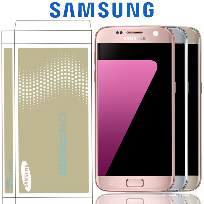 Original 5 1 SUPER AMOLED LCD For Samsung Galaxy S7 G930 G930F SM G930F Display Touch