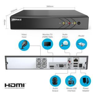 Image 2 - ANNKE Sistema de CCTV para exteriores, Kit de 4 canales, 1080P Lite, 1080P, DVR, 4 Uds., cámaras de seguridad de 2.0MP, Kit de videovigilancia nocturna IR