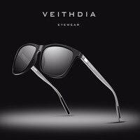 VEITHDIA с УФ-защитой оригинальные брендовые дизайнерские унисекс Алюминий + TR90 солнцезащитные очки с поляризованными линзами, Винтаж солнцеза...