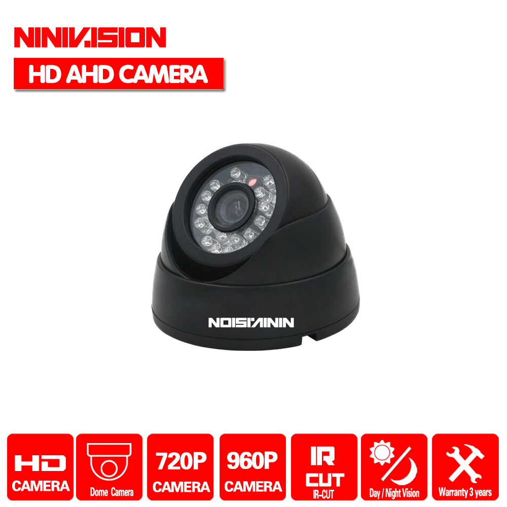 NINIVISION New Home AHD Camera 720P 960P CCTV Security AHD-M Camera HD 1MP IR-Cut Night vision Indoor Camera 1080P LENS