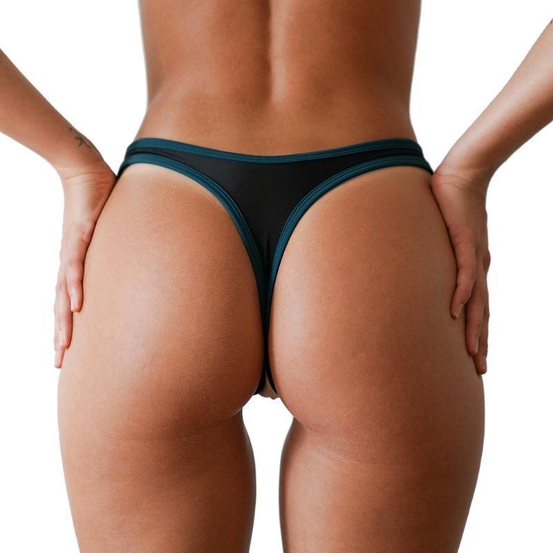 2018 New Hot Sale Black V Shape Sexy Brazilian Bikini Bottom Women Swimwear Swimsuit trunk tanga micro Briefs Panties Underwear