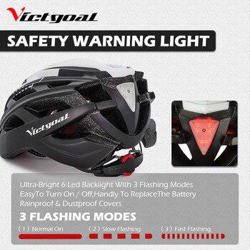 Bike Helmet, LED Backlight, Bicycle, Helmet Men Women Goggles Cycling Helmet Ultralight MTB Road 10