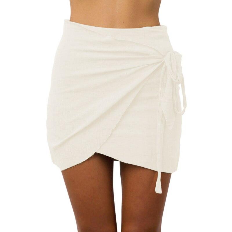 2017 Summer Tie up Beach Short Skirts Women Vintage ...