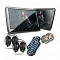 """Xtrons 2 unids 10.1 """"HD TFT Digital de Pantalla Ultra-delgado Diseño Botón Táctil Reposacabezas de Coches Reproductor de DVD con Puerto HDMI + 2x IR Heasphones"""