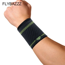 FLYBAZZZ 1 Piece Elastic Sport Bandage Wristband Hand Gym Support Wrist Brace Wrap Tennis Cotton Weat Band Fitness Powerlifting aolikes 1pcs cotton elastic bandage hand sport wristband gym support wrist brace wrap carpal tunnel