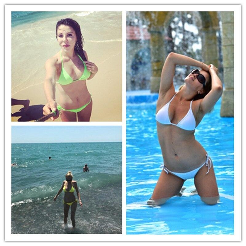 MANYIER swimsuit summer new Hot sexy pure color women bikini set bandage swimsuit brazilian multi-color swimwear bikini women 7