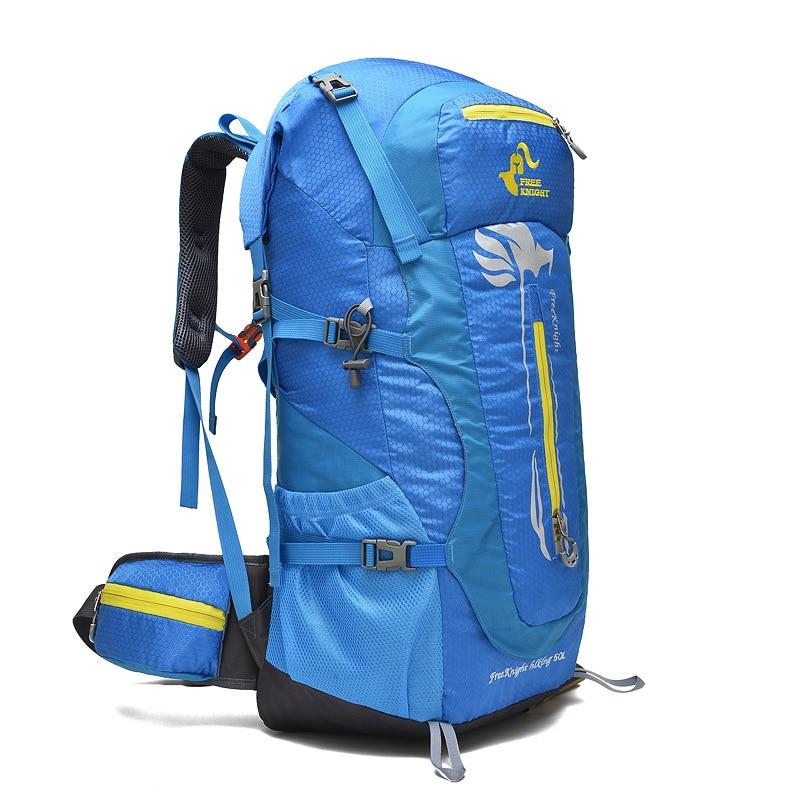 Free Knight Large Capacity Camping Hiking Backpacks 50L Waterproof Nylon Outdoor Sports Mountaineering Trekking Travel Bag