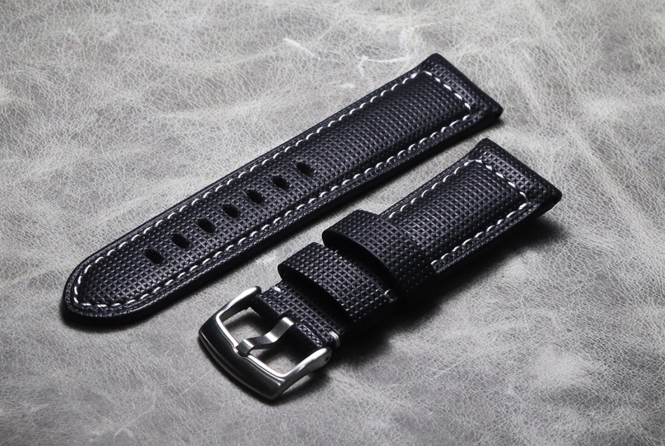Handmade Men Black Watch Strap 20mm 21mm 22mm 24mm 26mm Vintage Cow Leather Watch Band For Panerai Fossil Seiko Watchband