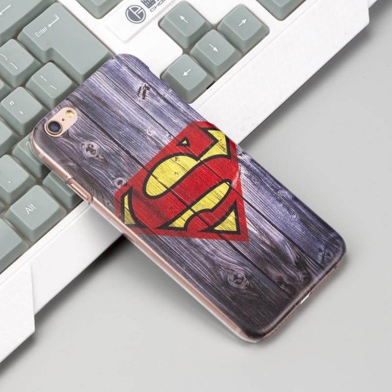 Marvel Superman Cover Case for coque iPhone 5SE 5s 6 6s 7 8 Plus X 6plus Spider Batman Ironman for iPhone 10 Phone Cases Funda