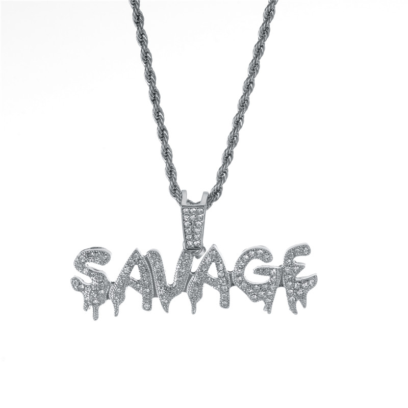 Savage Letter Necklace & Pendant 8