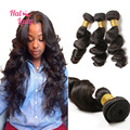 Grade 8A Brazillian Loose Wave Virgin Hair Bundles 30 32 34 inch On Sale Brazilian Virgin Hair 3Pcs/lot Loose Deep Hair Weaves