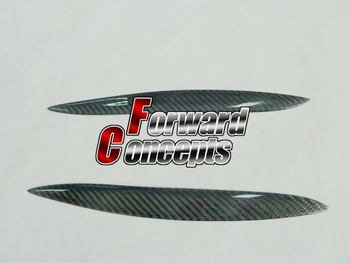 FOR CARBON FIBER 91-00 SC300 SC400 SOARER HEADLIGHTS EYEBROWS EYELIDS