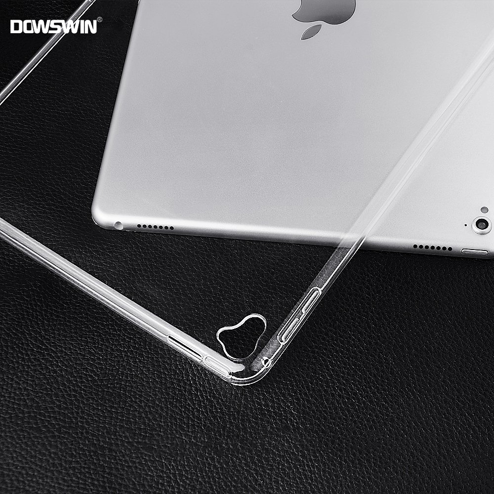 DOWSWIN Case For iPad Pro 12.9 2017 2015 Soft Clear Transparent&TPU Back Cover Protective Case For New iPad Pro 12.9 Inch Case стоимость