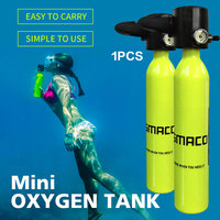 Diving Equipment Mini Scuba Oxygen Air Tanks Cylinder Head Valve Mouthpiece Adapter Snorkeling Underwater Breathing Device