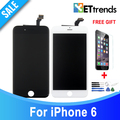 5PCS/LOT Grade AAA  NO Dead Pixel LCD for iPhone 6 LCD Screen Touch Digitizer with Cold Press Frame Full Assembly DHL Free ship