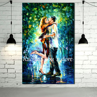 Hand Painted Abstract Romantic Lovers Kissing Oil Paintings On Canvas Palette Knife Wall Pictures Living Room Home Decor Unframe