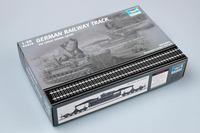 1:35 World War Ii German Railway Track Military Assembly Model Train Scene Sand Plate