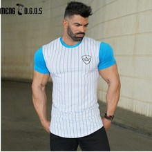 2017 Summer Newest Men Fashion cotton T-shirt Short Sleeve male Hipster Casual gyms Fitness Crossfit Brand Tee tops clothing