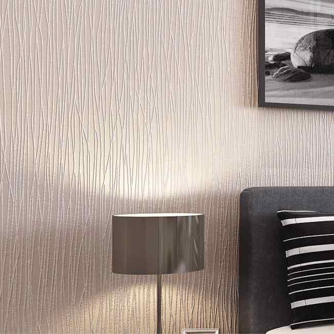 Простые роскошные современные полосатые обои для стен 3 D спальня гостиная диван тв задний план розовый бежевый полосы стены бумага в рулонах