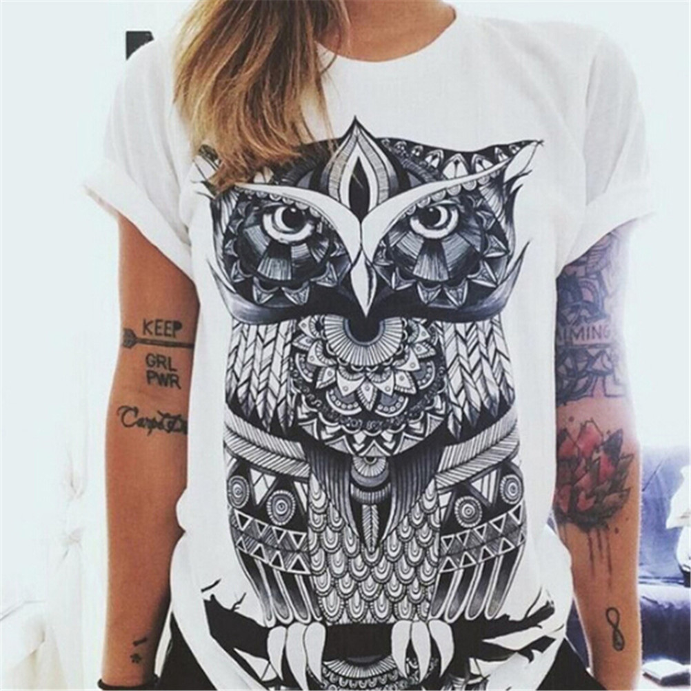 Women Tshirt Designer Clothing T-shirt Print Punk Rock Fashion Graphic Tees European T Shirt Fashion White