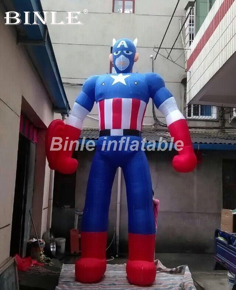 Gran venta 3mH película Figura vengadores superhéroe inflable Capitán América para publicidad