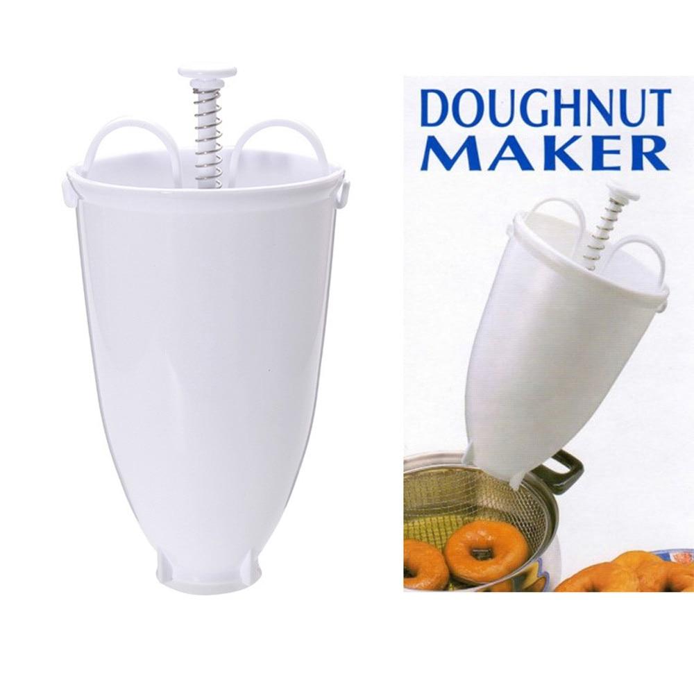 Пластик пончики машина для изготовления прессформы DIY инструмент для Изготовления Кухонных кондитерских изделий посуда для выпечки Кухонные аксессуары белый практичный пончик