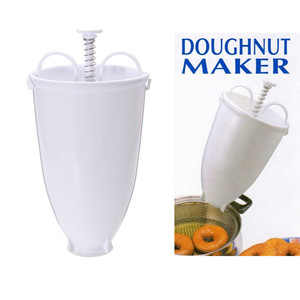 Plastic Doughnut Maker Machine Mold DIY Tool Kitchen Pastry Making Bake Ware Kitchen Accessories White Practical Moule Donut(China)