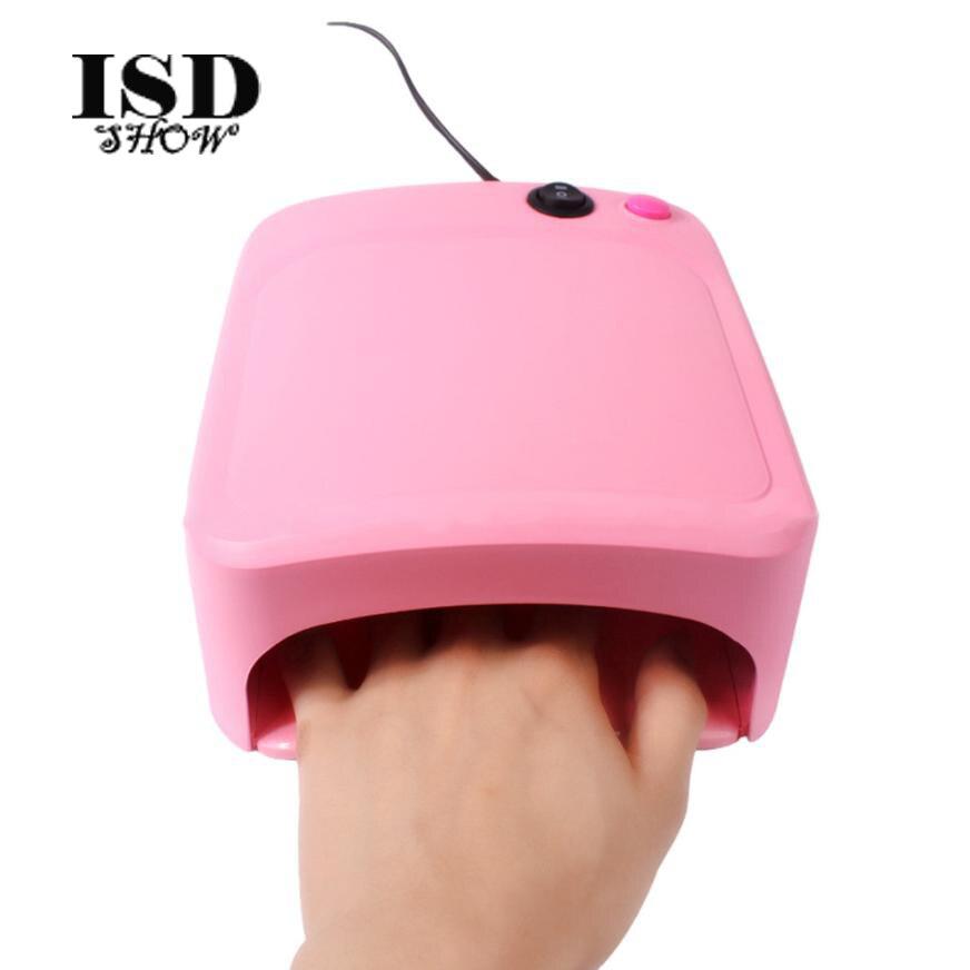 Envío de la gota 36 w UV luz de la lámpara secadora de uñas de arte manicura Gel con temporizador lámpara ultravioleta del clavo profesional #7
