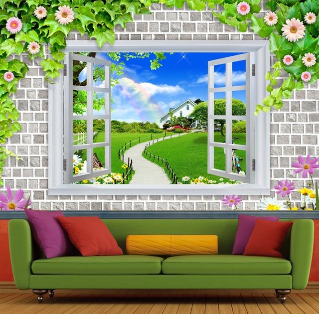 Custom 3D photo wallpaper green wallpaper mural artistic background ...