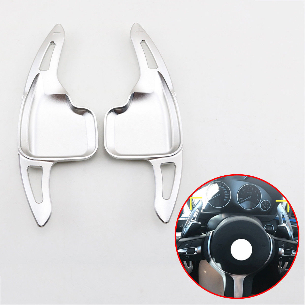 Gear Steering Wheel Shift Lever Paddle Shifter Fit For BMW 1 2 3 4 5 6