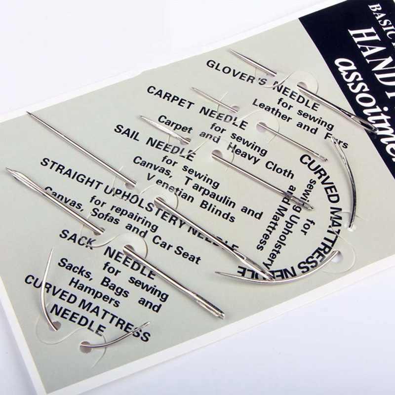 7 ピース/セットステンレス鋼ミシン針家庭用異なるサイズ用革キャンバスホーム Diy 工芸品縫製ピンセット