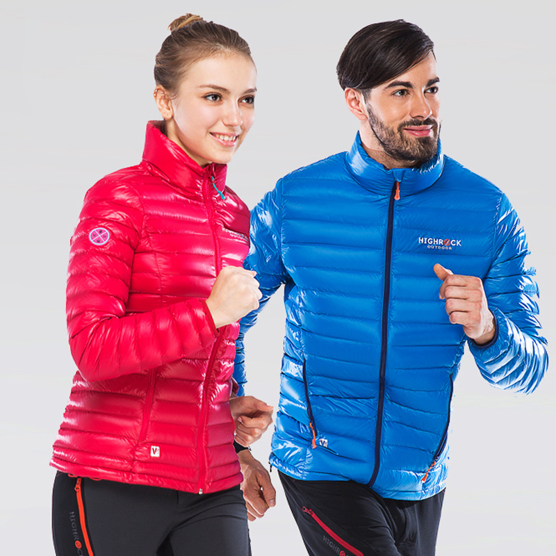 Mens and Women's Packable Hooded Lightweight Down Jackets Zipped Puffer Coats Outerwear Winter Warm Clothing for Hiking Climbing