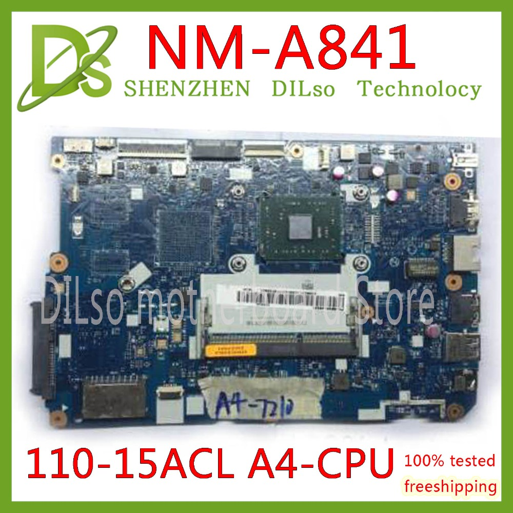 KEFU 110-15acl original motherboard for Lenovo 110-15acl Notebook PC motherboard CG521 nm-a841 A4-7210 100% Test original