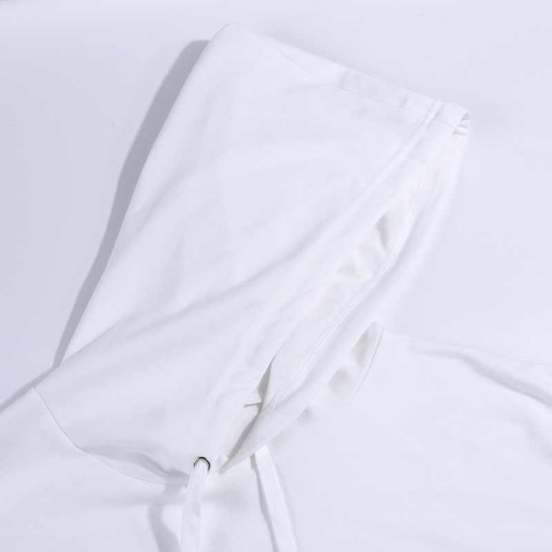 Nuevas sudaderas con capucha suelta Tops cortos sudadera + Pantalones de lápiz 2 piezas conjuntos de ropa de mujer trajes de color blanco femenino chándal